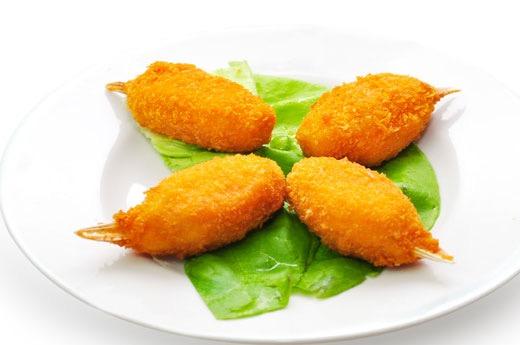 E14 Pince de crabe en beignet